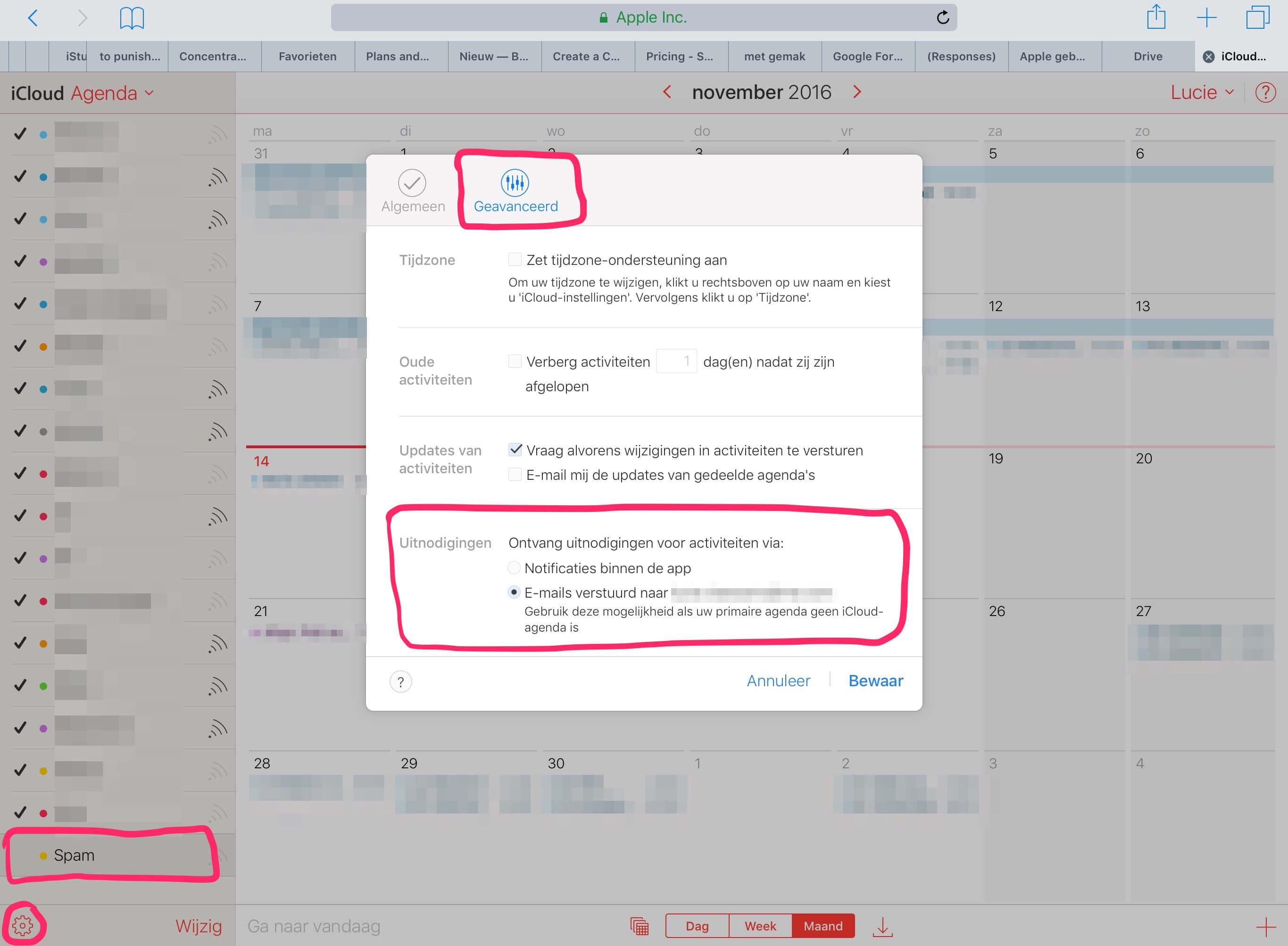 Gebruik iCloud agenda icm andere app