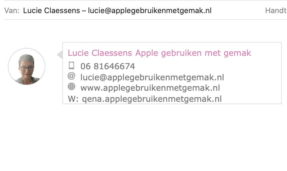 Een html handtekening toevoegen aan Mail op je Mac